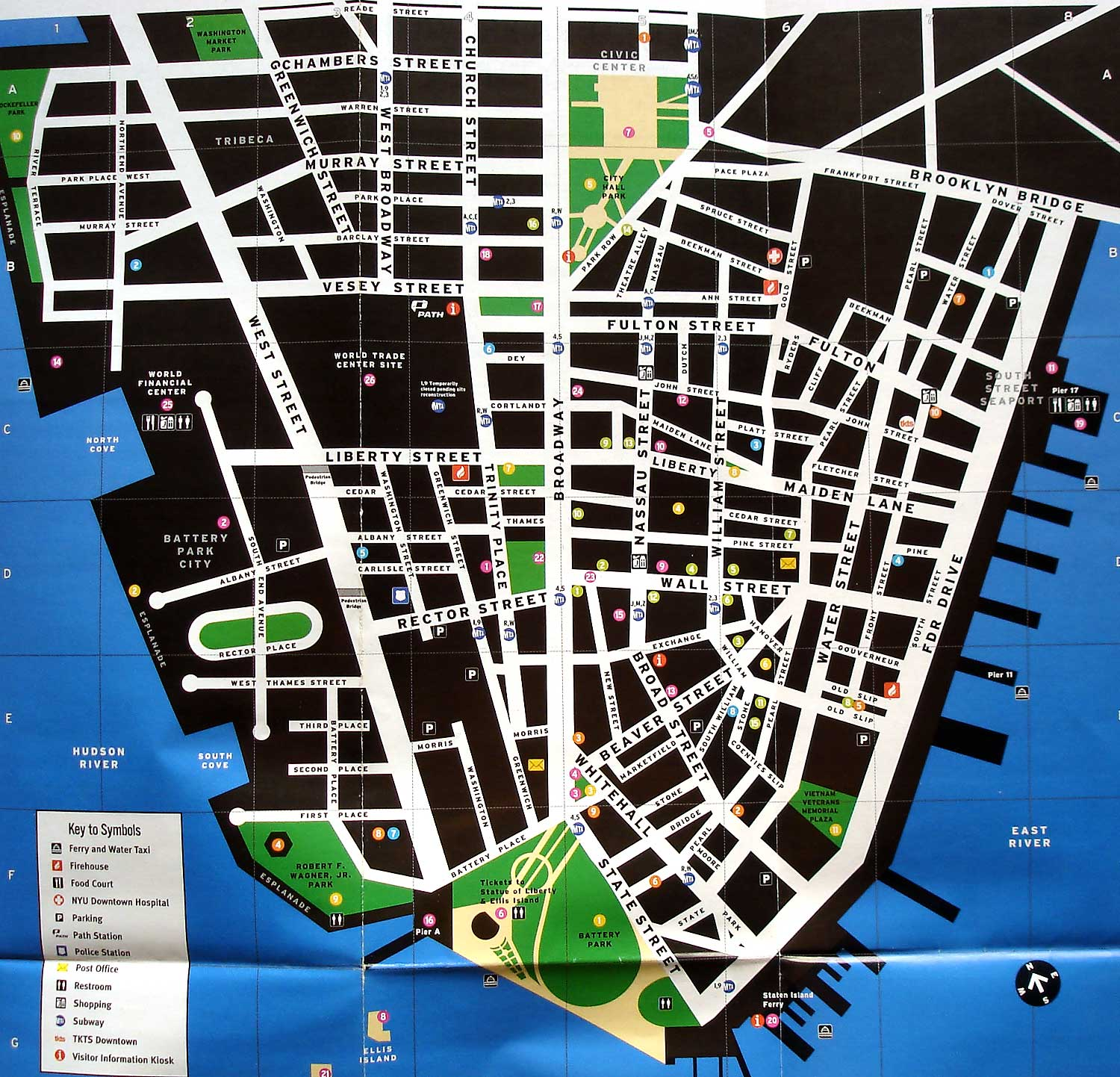 New York Tourist Attractions – Tourist Map Nyc
