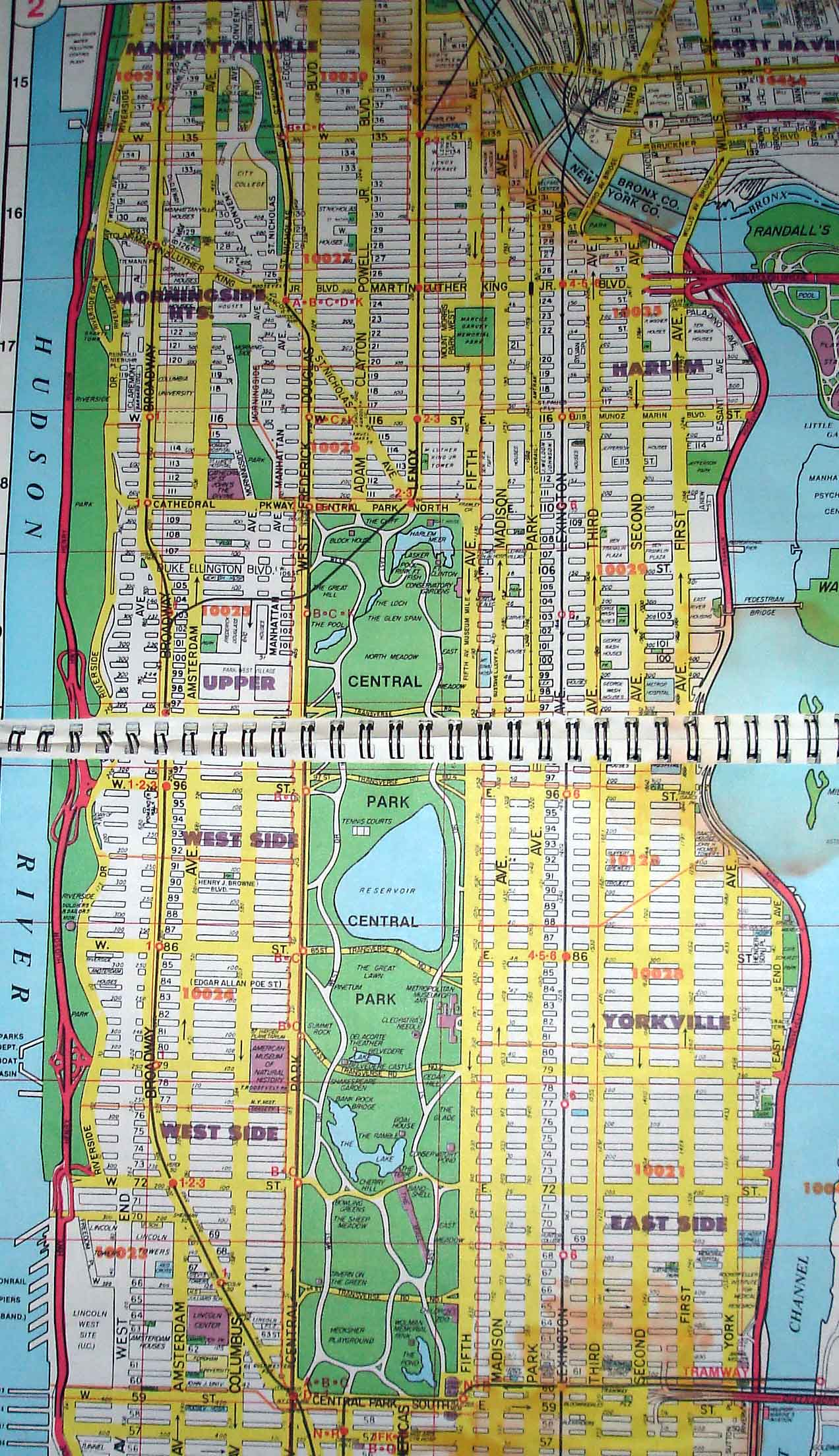 upper nyc map central park map