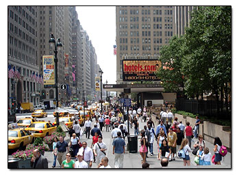 New York Crowded Street