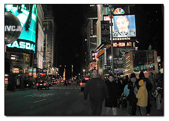 Times Square at night picture